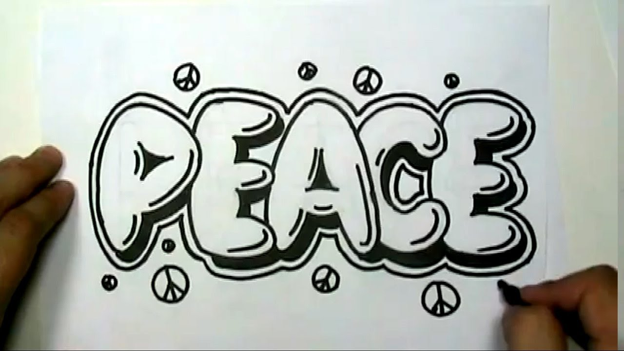 1280x720 How To Draw Peace In Graffiti Letters