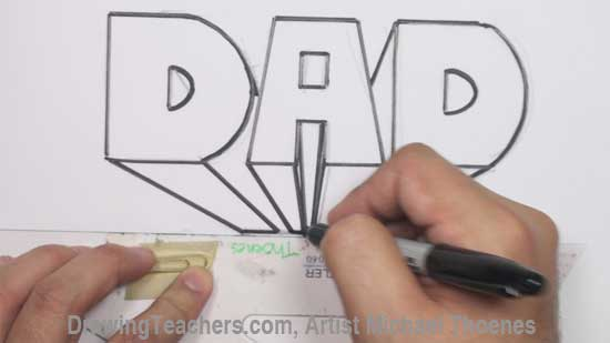 Bubble letters drawing at getdrawings free for personal use 550x309 draw dad in block letters expocarfo Gallery