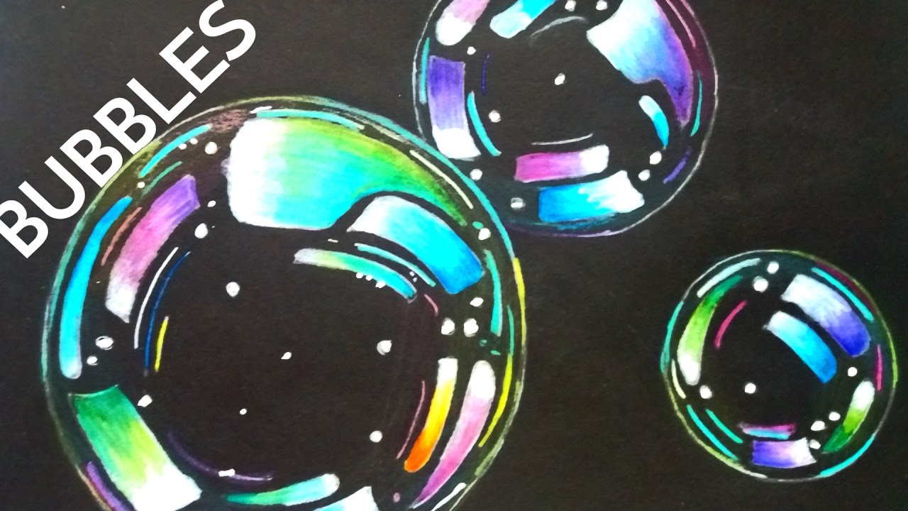 bubbles with colored pencils drawing at getdrawings com free for