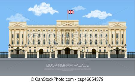 450x273 England Buckingham Palace With Cloud Mesh Gradient Object