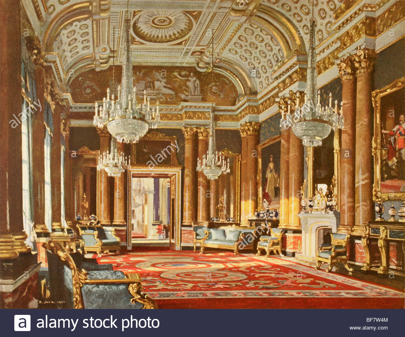 1300x1081 The Blue Drawing Room, Formerly The Ballroom, In Buckingham Palace