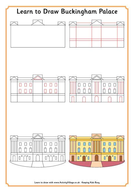 460x658 Learn To Draw Buckingham Palac