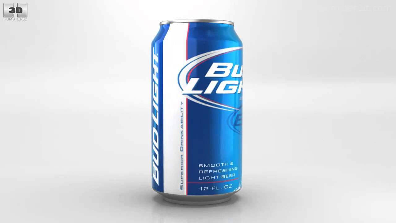Bud light can drawing at getdrawings free for personal use bud 1280x720 budlight beer can 330 ml by 3d model store mozeypictures Gallery