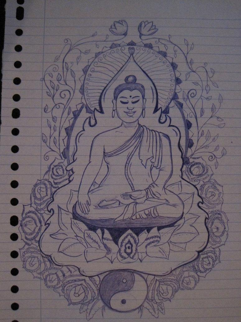 774x1032 Buddha Tattoo Drawing By Artisticliberty