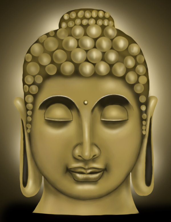 600x778 Learn How To Draw Buddha Face (Buddhism) Step By Step Drawing