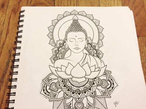 500x375 Buddha Sketch Drawings Tumblr