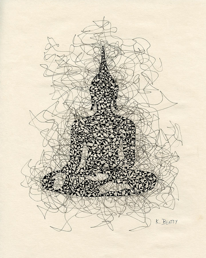 720x900 Buddha Pen And Ink Drawing Drawing By Karla Beatty