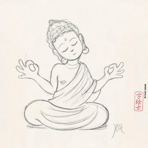 500x500 Buddha Sketch By 7e55e