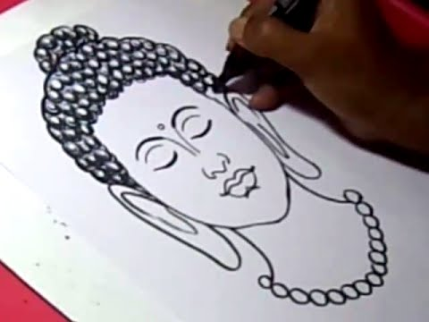 480x360 How To Draw Lord Buddha 2 Drawing Step By Step For Kids