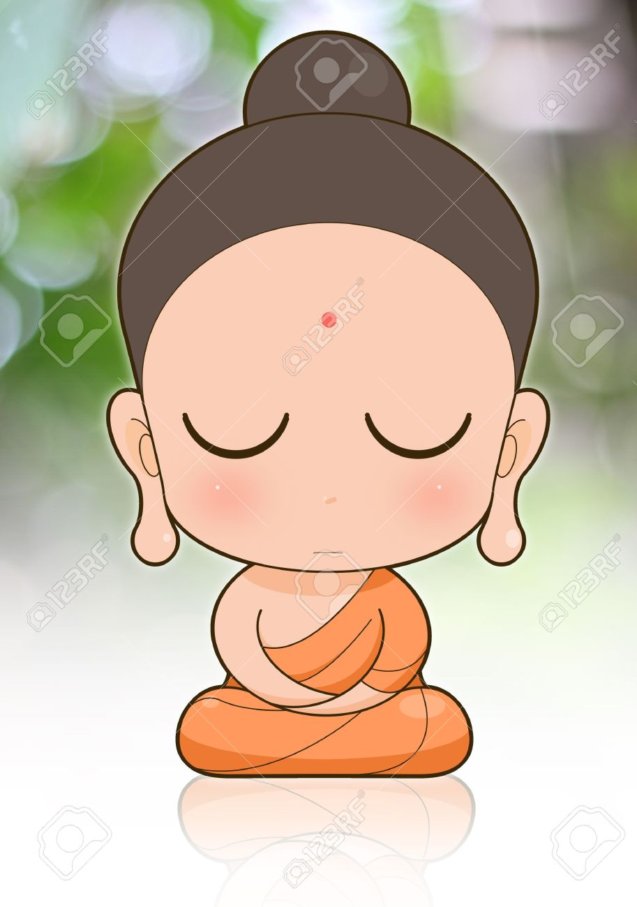 913x1300 Buddhist Monk Cartoon Stock Photo, Picture And Royalty Free Image