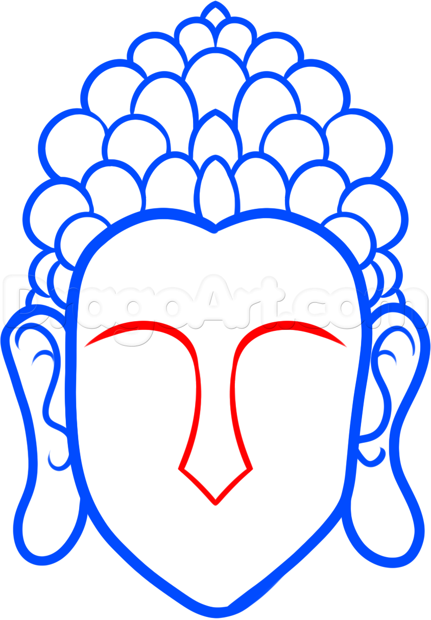 844x1214 How To Draw Buddha Easy, Step By Step, Faces, People, Free Online