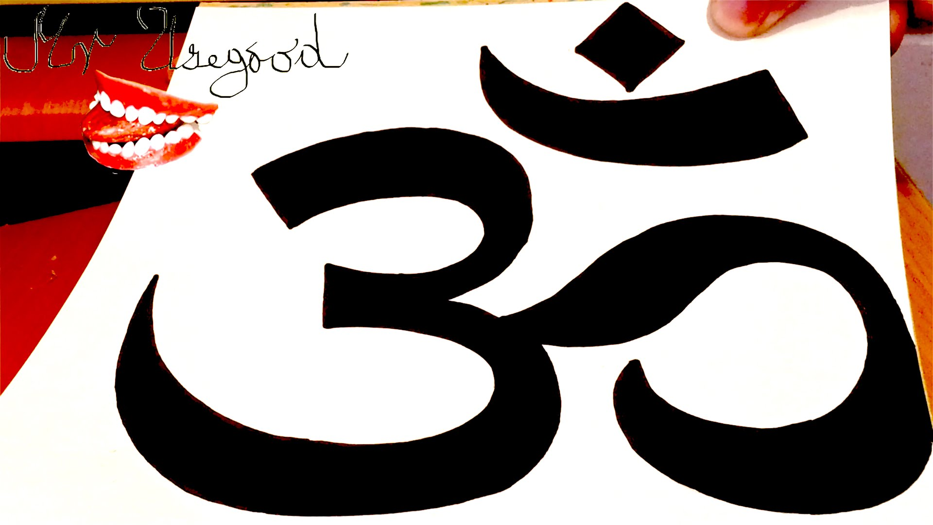 1920x1080 How To Draw Om Symbollogo Easy On Paper With Pencil And Color