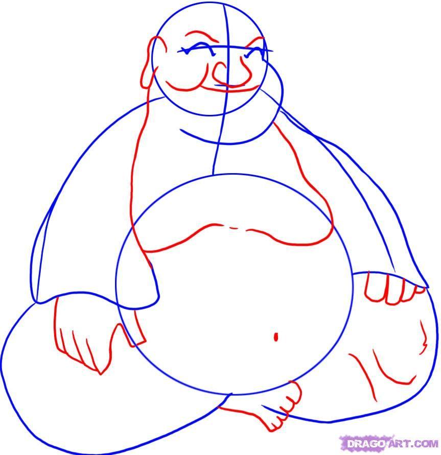 863x891 To Draw Buddha Step