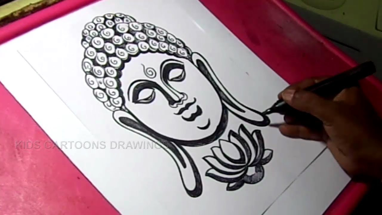 1280x720 How To Draw Buddha Drawing For Kids