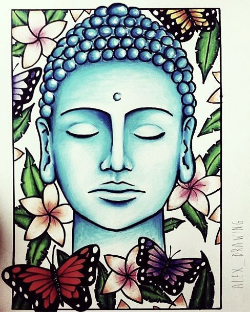 488x610 Turquoise Buddha Illustration So Pretty. Artwork By Alex