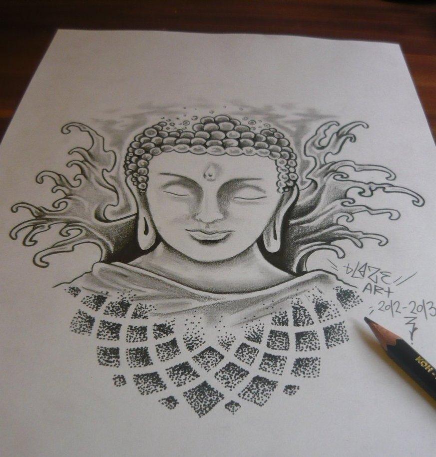 873x915 Buddha Pencil Sketch