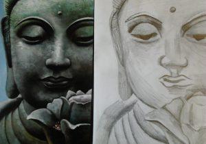 300x210 Pencil Drawing Of Buddha
