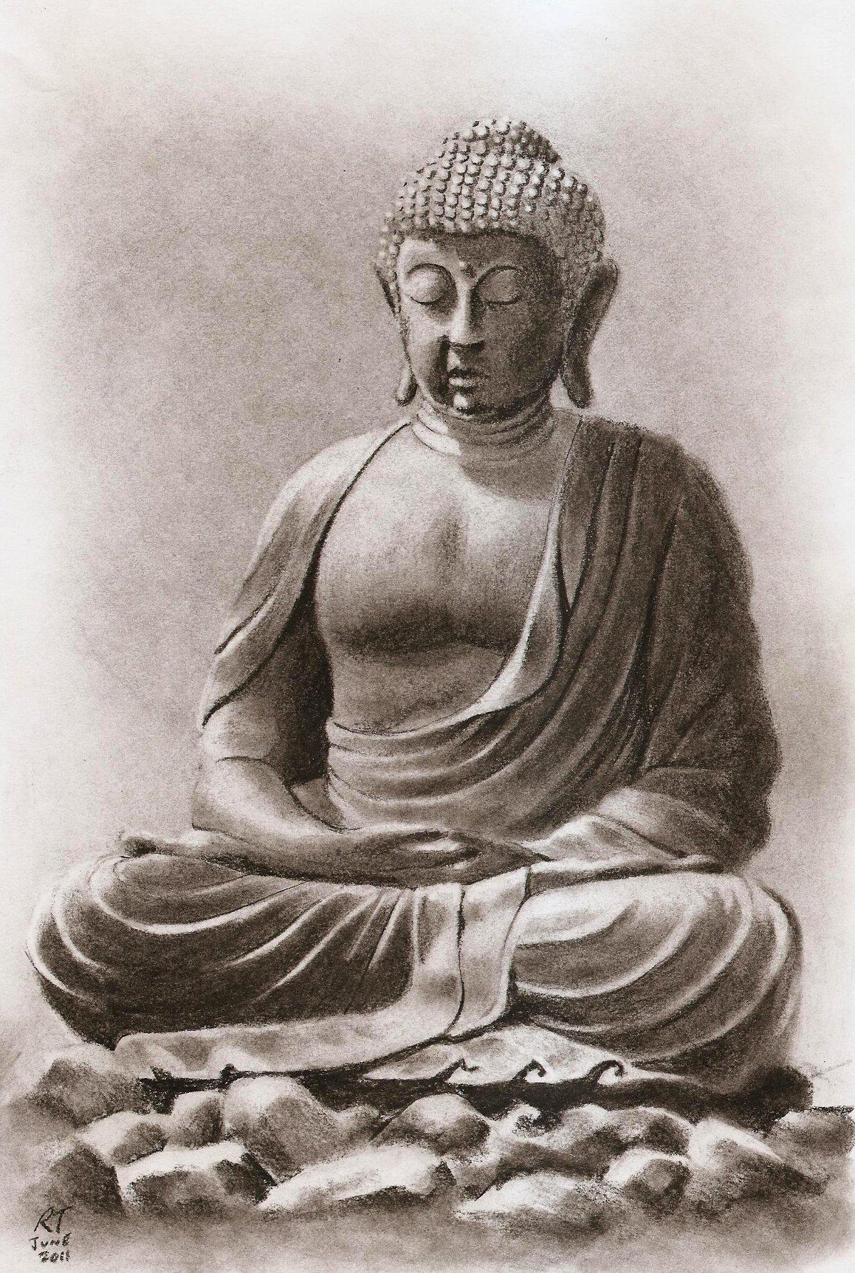 1200x1788 Pencil Drawing Of Buddha Portrait Artist Illustrator Buddha