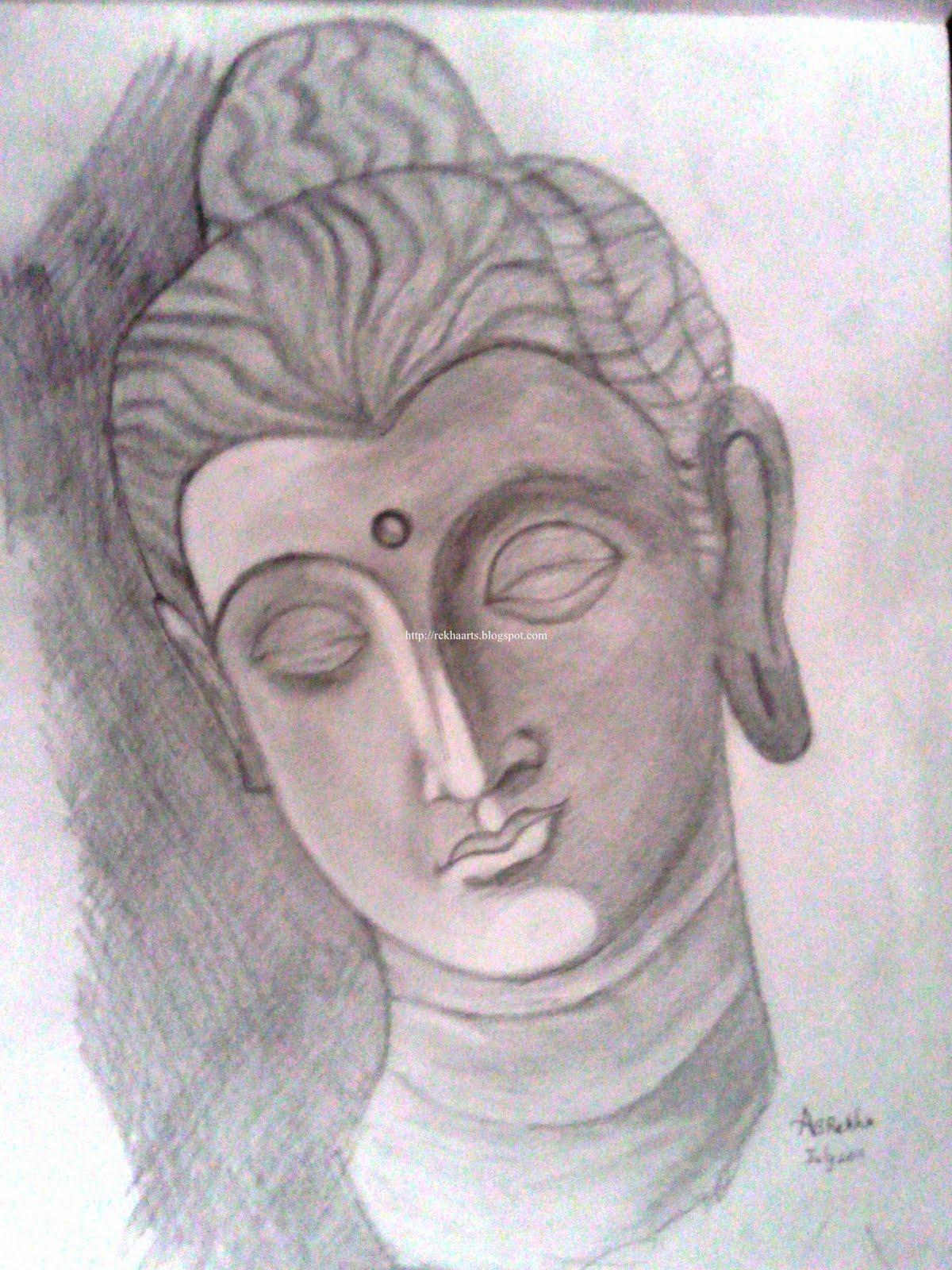 1200x1600 Pencil Sketches Of Buddha Varnaalaya Buddha