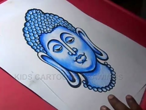 480x360 How To Draw Lord Gautama Buddha Drawing For Kids Step By Step