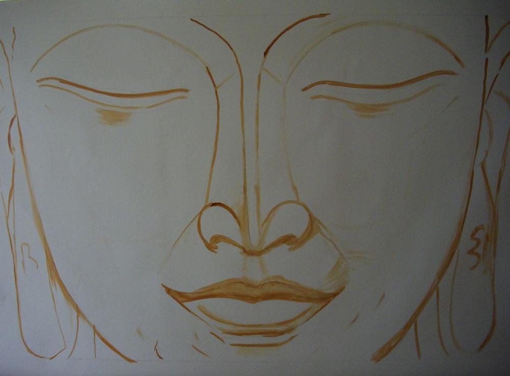 1000x738 New Buddha Painting On Process