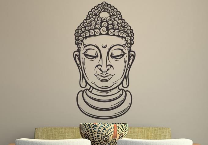 680x472 Buddha Head Wall Decal