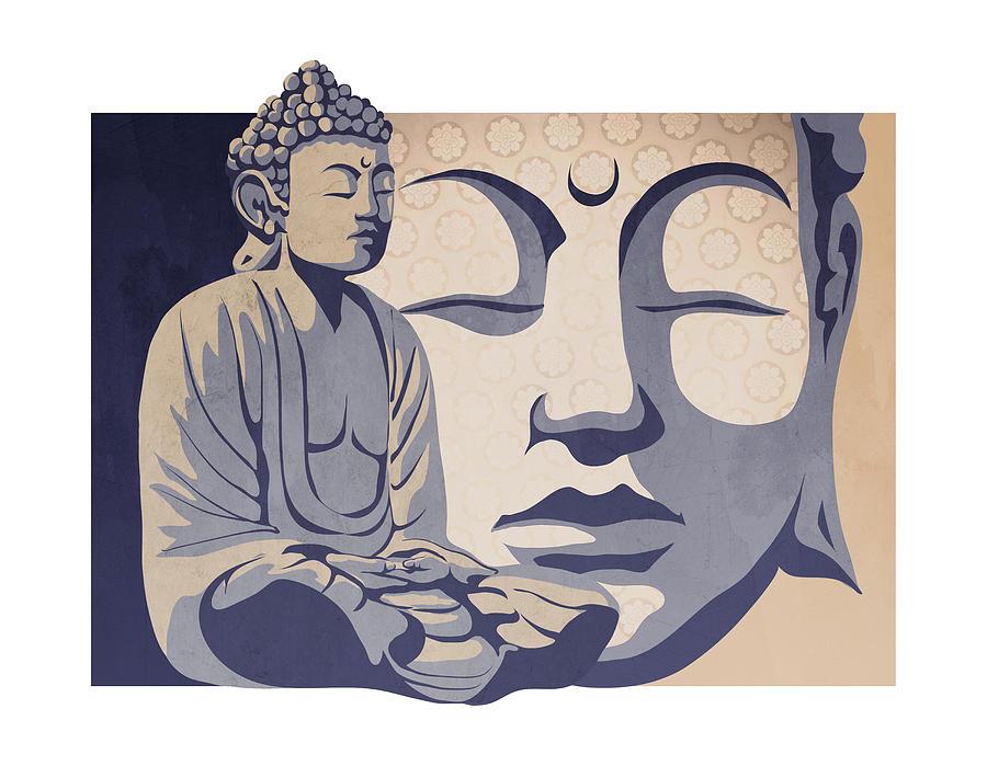 900x699 Buddha Painting By Sassan Filsoof