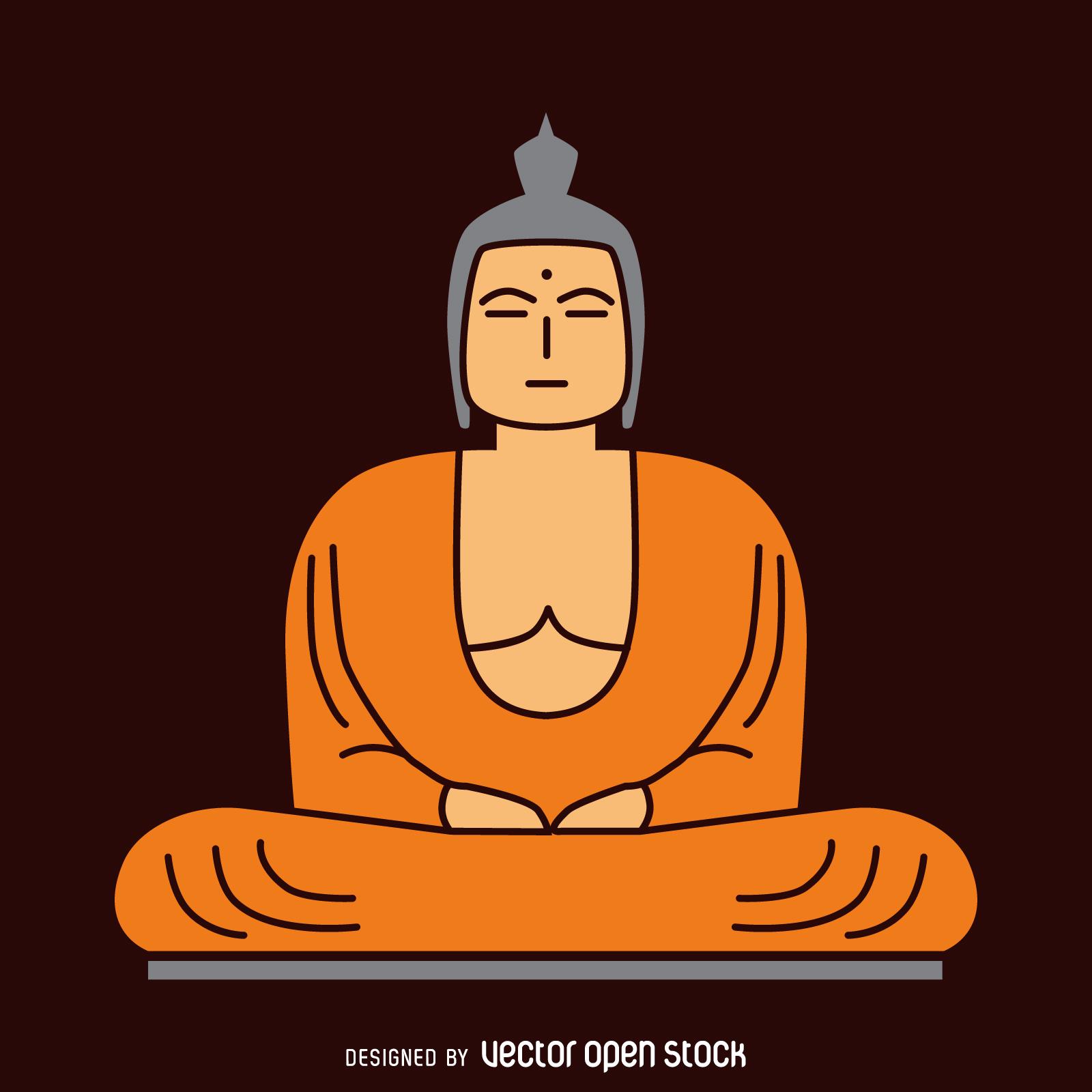 1600x1600 Flat Buddha Illustration