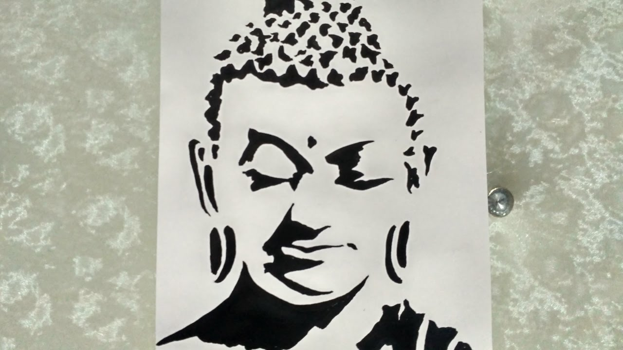1280x720 Shrishti Arts How To Draw Lord Buddha Creative Art