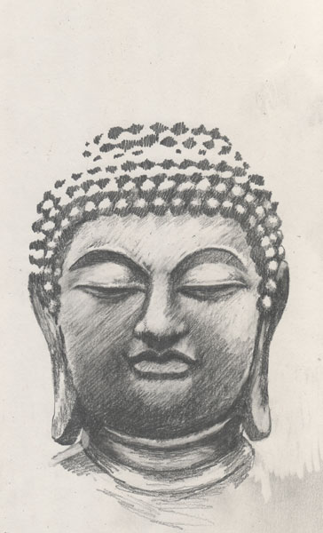 Buddha Face Line Drawing : Buddha face drawing at getdrawings free for personal