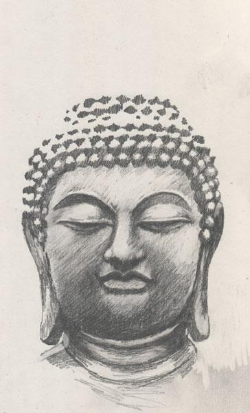 364x600 buddha face sketch 13783 baidata