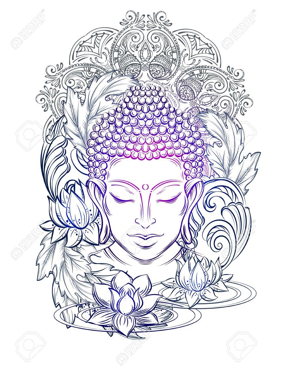 1000x1300 Buddha Head