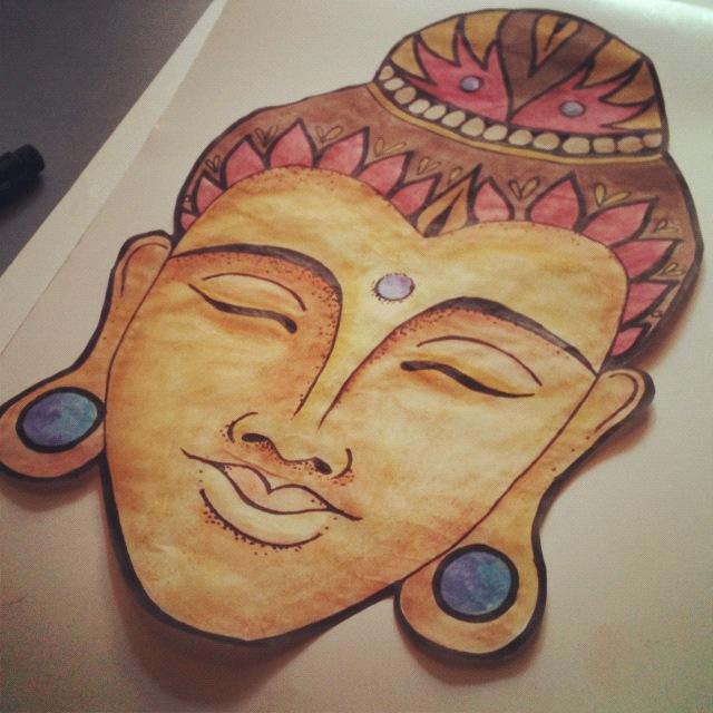 640x640 Buddha Head By Catherinemonk