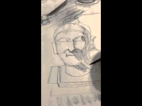 480x360 Drawing Buddha Head