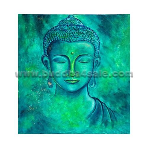 500x500 Original Abstract Modern Gautama Buddha Head Painting Oil Drawing