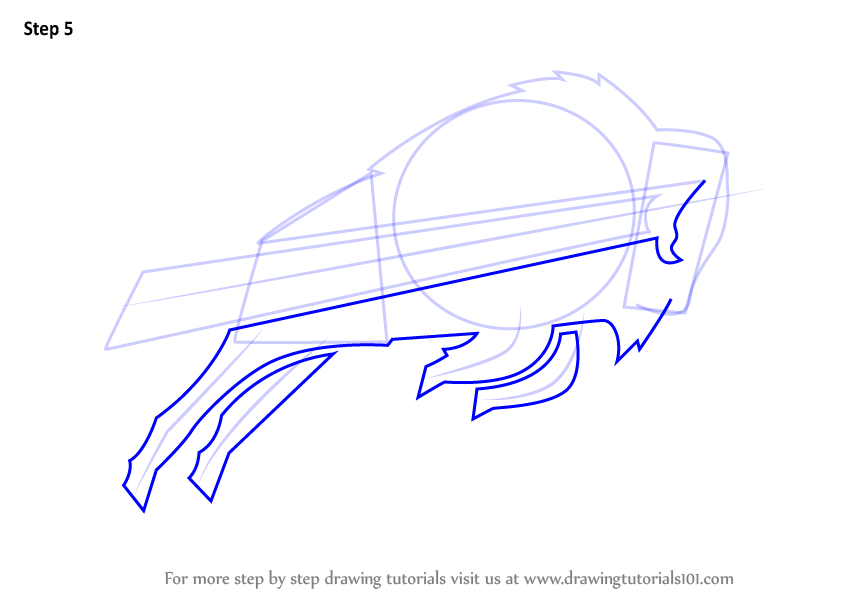 846x600 Learn How To Draw Buffalo Bills Logo (Nfl) Step By Step Drawing