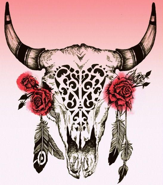 547x618 Cow Skull Tattoo Designs