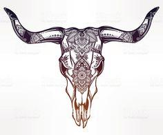 236x196 Bull Skull Drawings 18. Zodiac Bull Skull Design By Wingsdurus