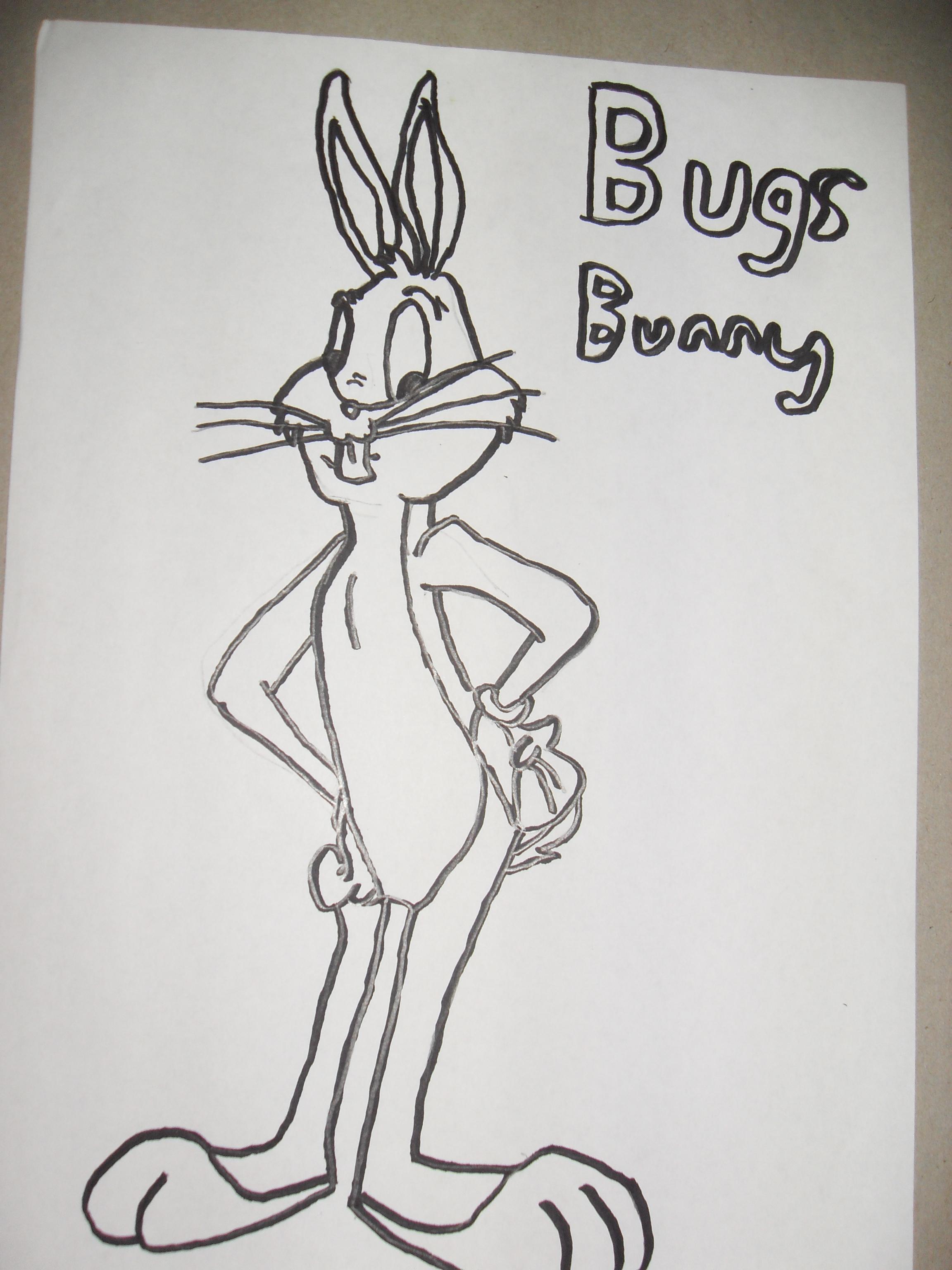 2304x3072 Bugs Bunny Tattoos Bugs Bunny Drawing Bugs Bunny Tattoo Drawings
