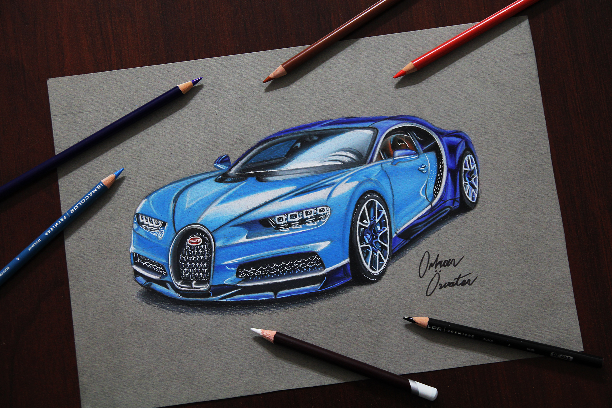 2000x1333 Bugatti Chiron Drawing By Me