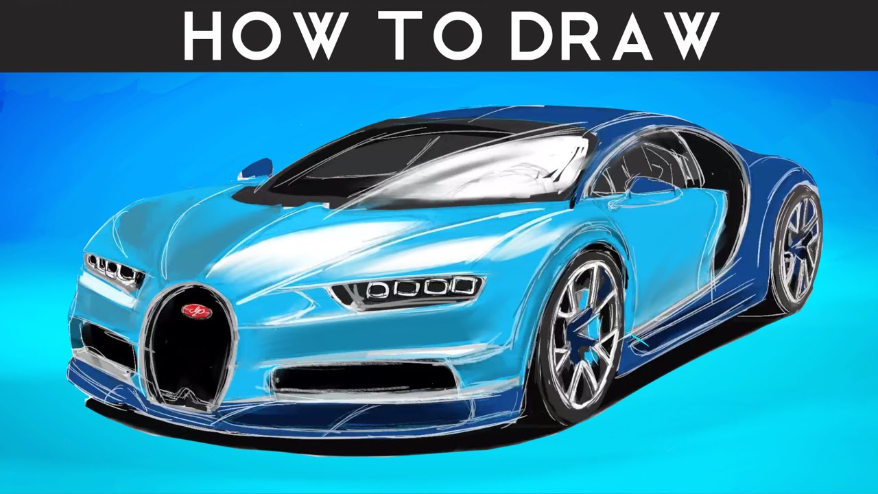 1280x720 How To Draw A Bugatti Chiron