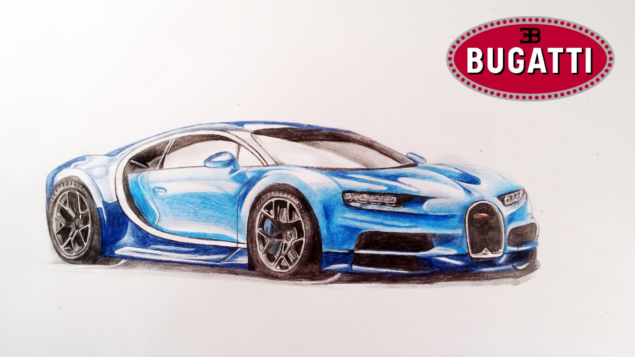 2128x1197 How To Draw Bugatti Chiron