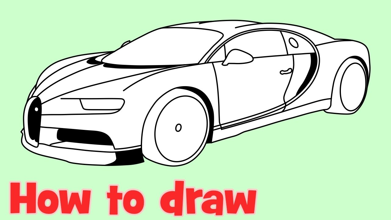 1280x720 How To Draw A Car Bugatti Chiron