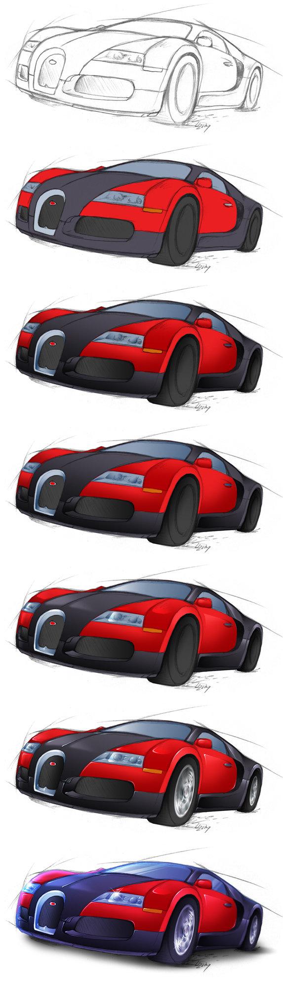 573x2000 Bugatti Drawing Step By Step Car Image Idea