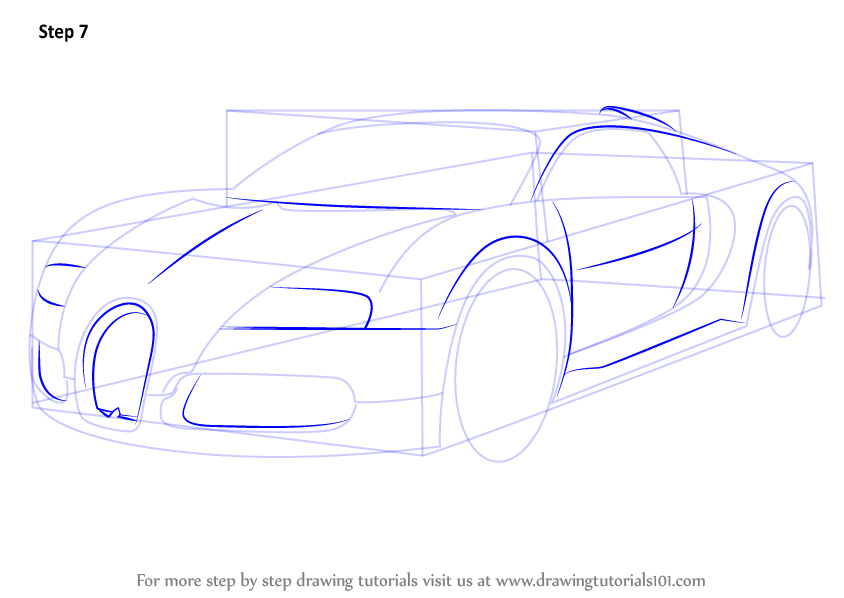 844x598 Learn How To Draw Bugatti Veyron (Sports Cars) Step By Step