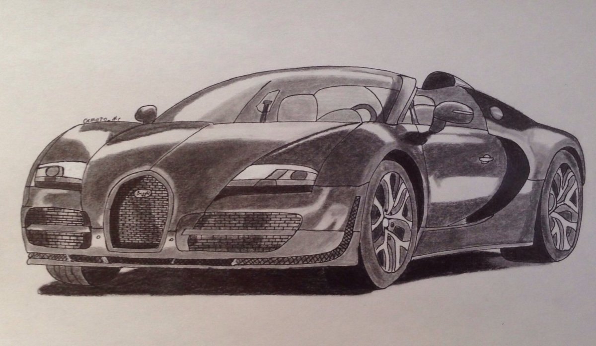 Bugatti Veyron Drawing at GetDrawings.com | Free for personal use ...