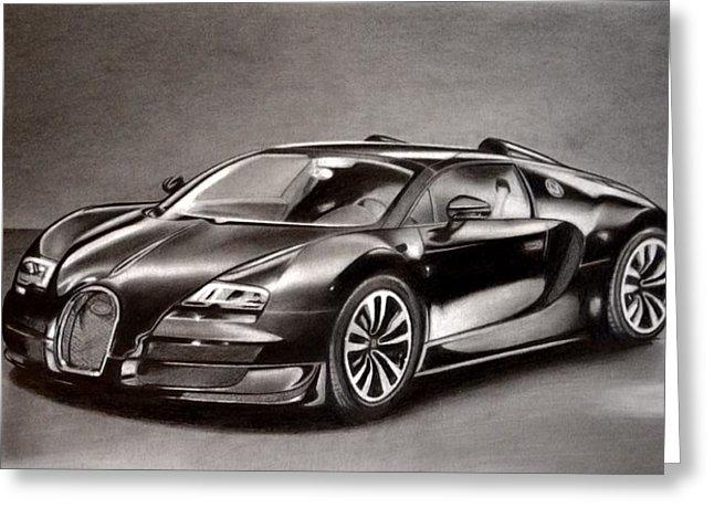 646x470 Bugatti Veyron Drawing By Darryl Linquist