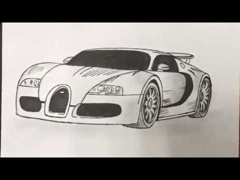480x360 Simple Bugatti Veyron Drawing