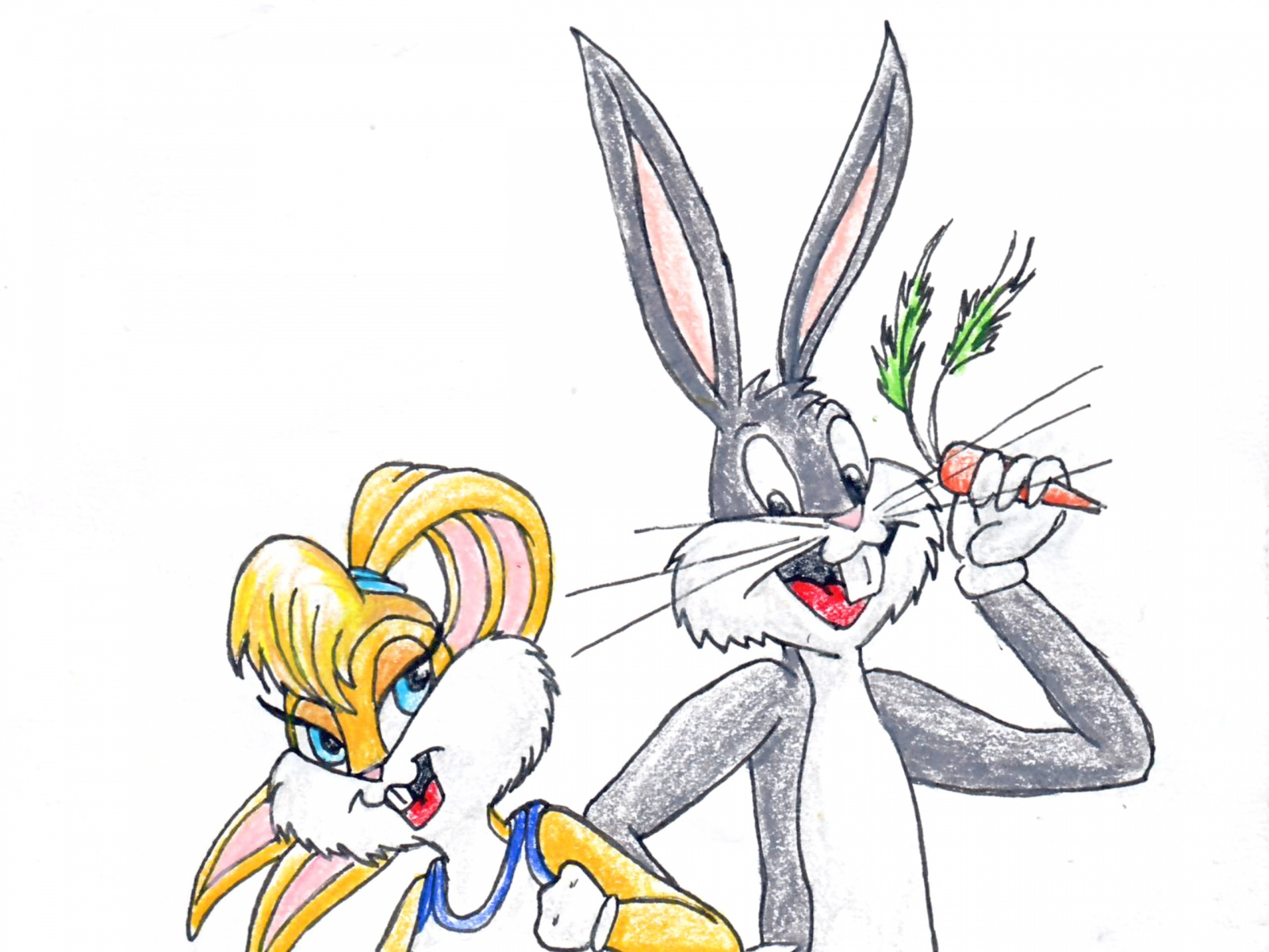 1600x1200 Bugs Bunny And Daffy Duck Cartoon Hd Wallpaper X Chainimage