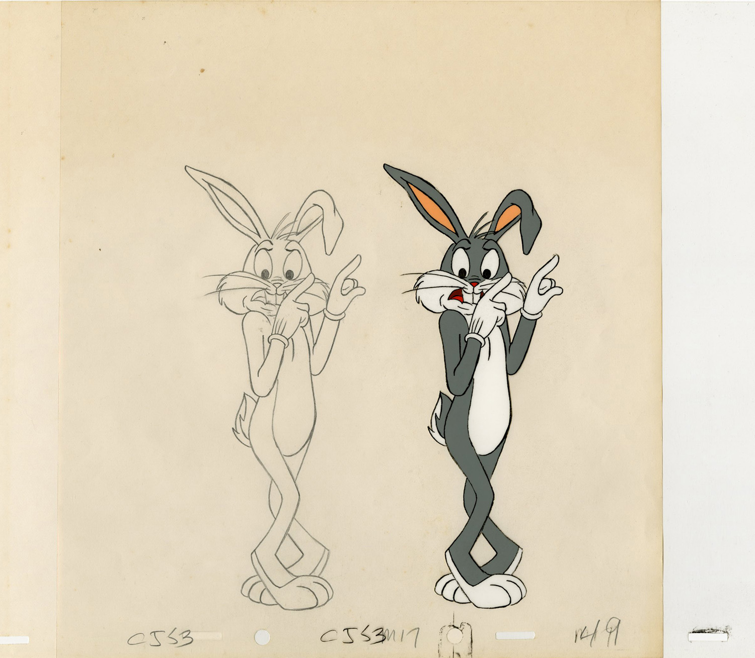 1500x1309 Bugs Bunny Production Cel